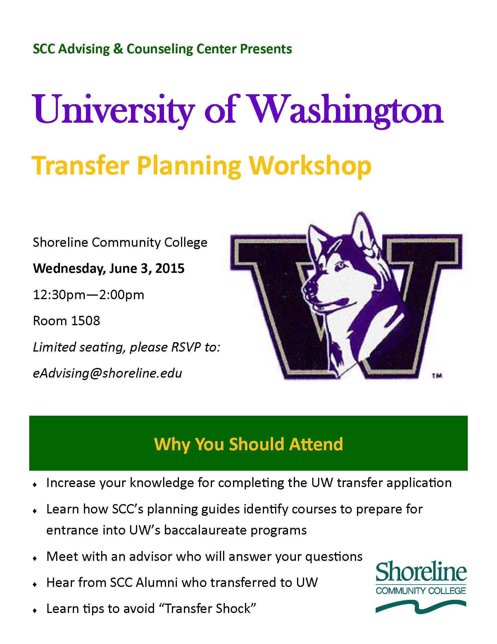 UW Transfer Workshop